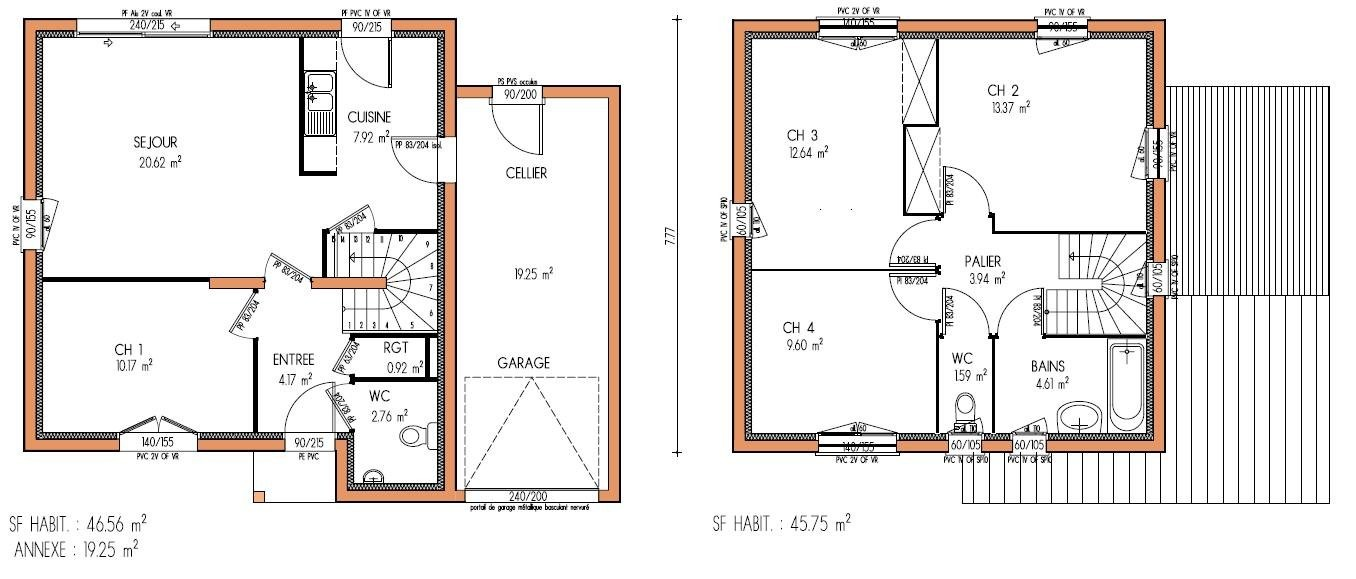 Plan De Maison A Etage Gratuit A1group Co