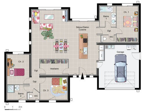 Plan De Maison Avec Mezzanine Contemporaine 1 Plans Pinterest