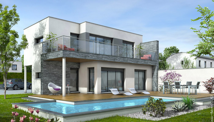 Plan De Maison Contemporaine Design Apsip Com