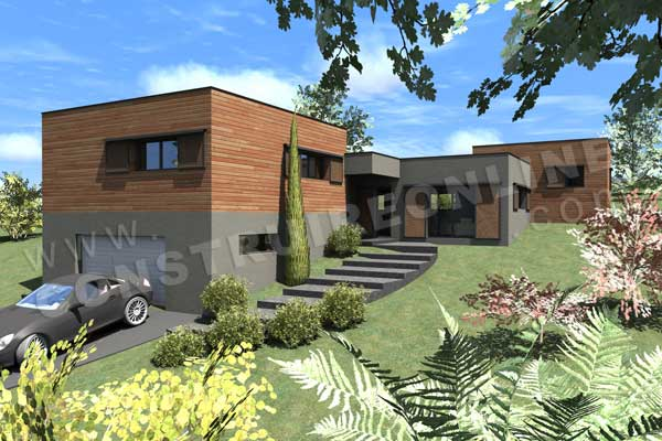 Plan De Maison Contemporaine HOLLYWOOD