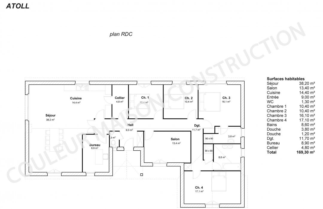 Plan De Maison Contemporaine Plain Pied Gratuit Blitz Blog Plans