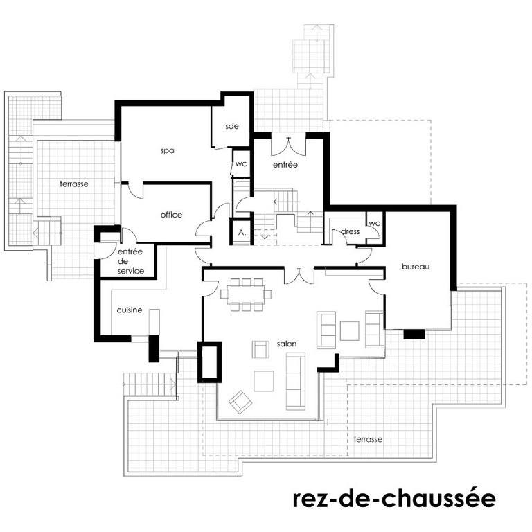 Plan De Maison Contemporaine Plaisant Terrain En