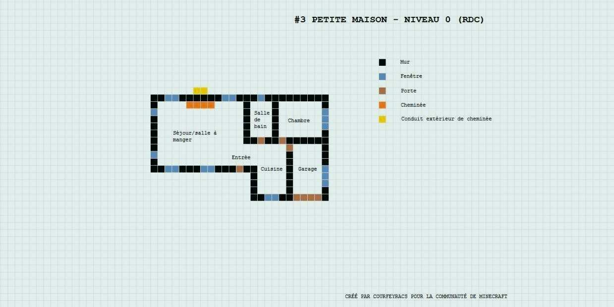 Plan De Maison Design Free Best Villa Minecraft Ideas On Rdc Mod 5