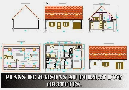 Plan De Maison Dwg Gratuit 12 Lzzy Co 9 Plans Gratuits A1group