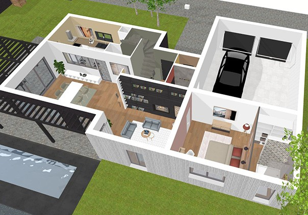 Plan De Maison En 3d Gratuit Davidreed Co