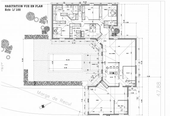 Plan De Maison En D Gratuit Sweet Home Small Dwg