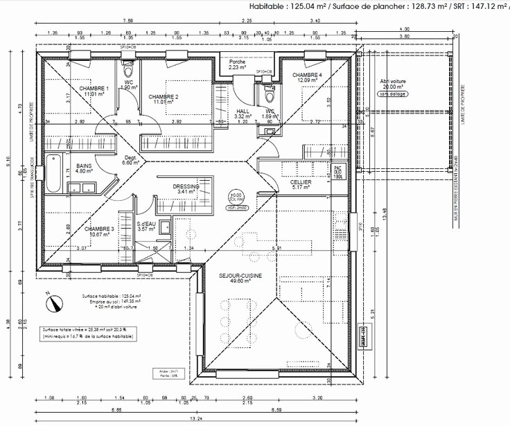 Plan De Maison En L Gratuit Awesome Idee Contemporary