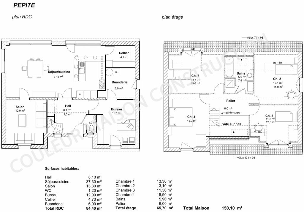 Plan De Maison En U Ouvert 6 327175 Lzzy Co 13 Et Description La