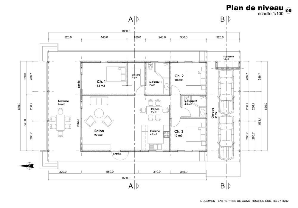 Plan De Maison F4 Gratuit Architecture In 2018 Pinterest