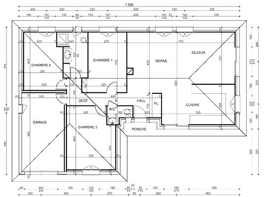 Plan De Maison Facade Cool Plain Pied With Wekillodors Com Vues Ext