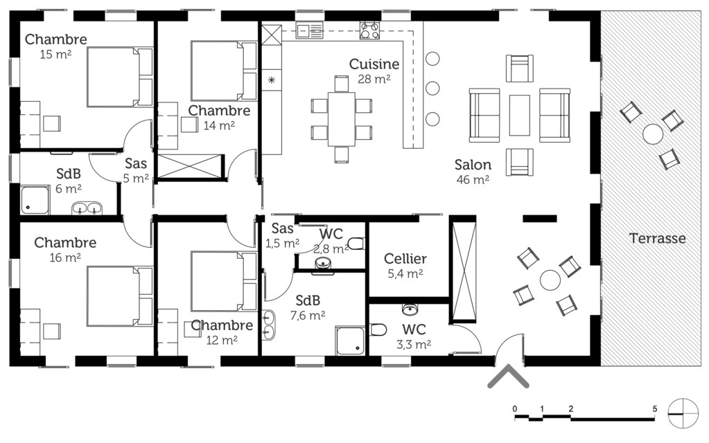 Plan De Maison Gratuit Pdf Moderne Newsindo Co