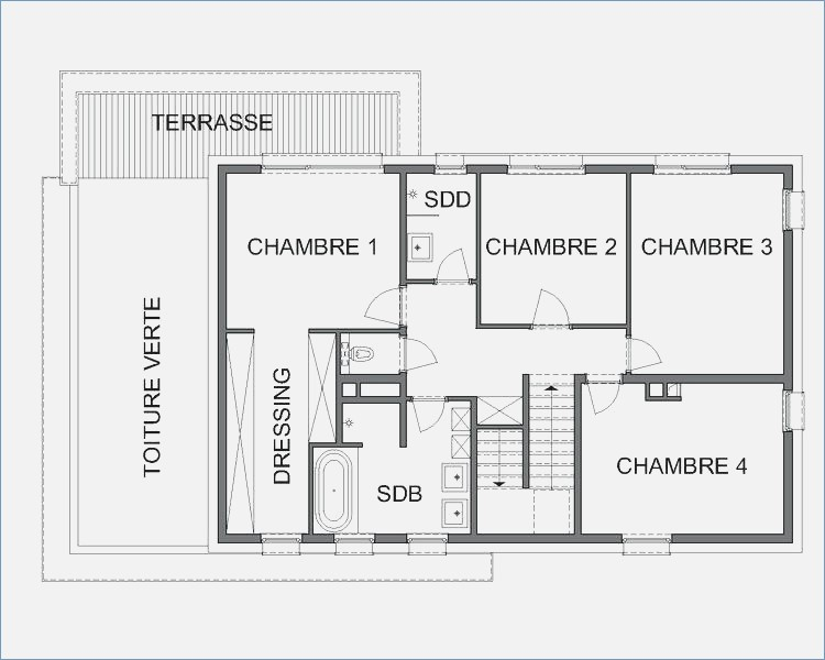 Plan De Maison Luxe Good Awesome Moderne