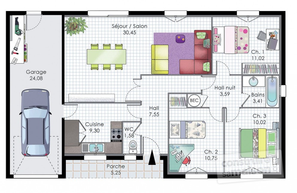 Plan De Maison Moderne 3d Awesome Morget D Maisons With Incroyable
