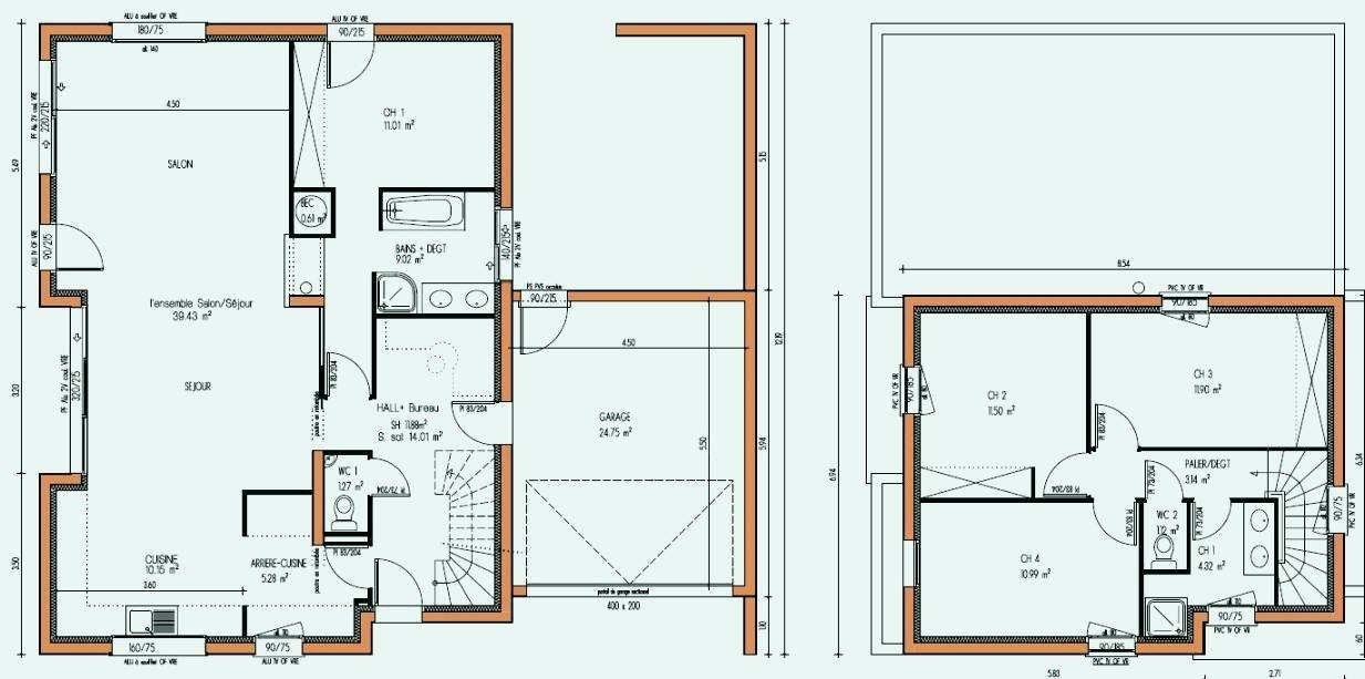 Plan De Maison Moderne A Etage Gratuit A1group Co