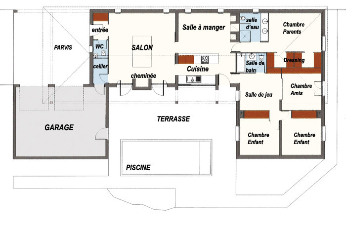 Plan De Maison Moderne A Etage Gratuit Complet 10 Rectangle Plans 28