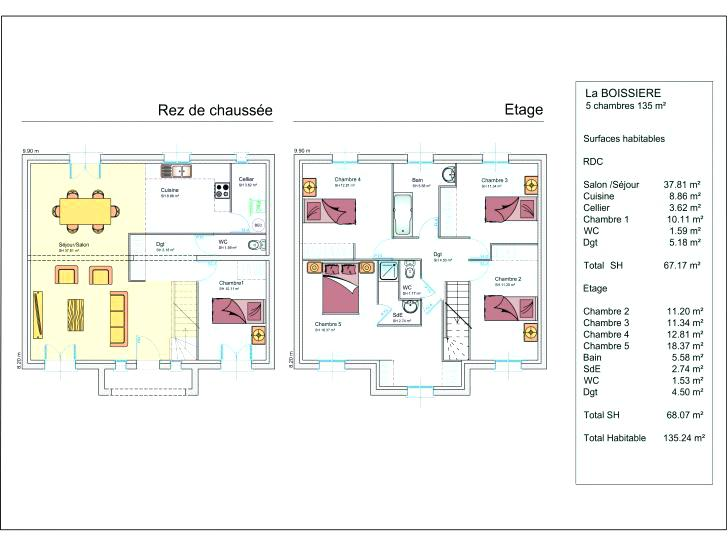 Plan De Maison Moderne A Simple Etage