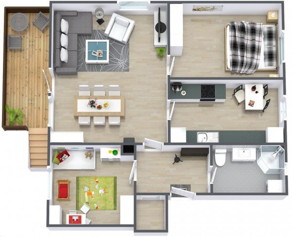Plan De Maison Moderne Et Simple