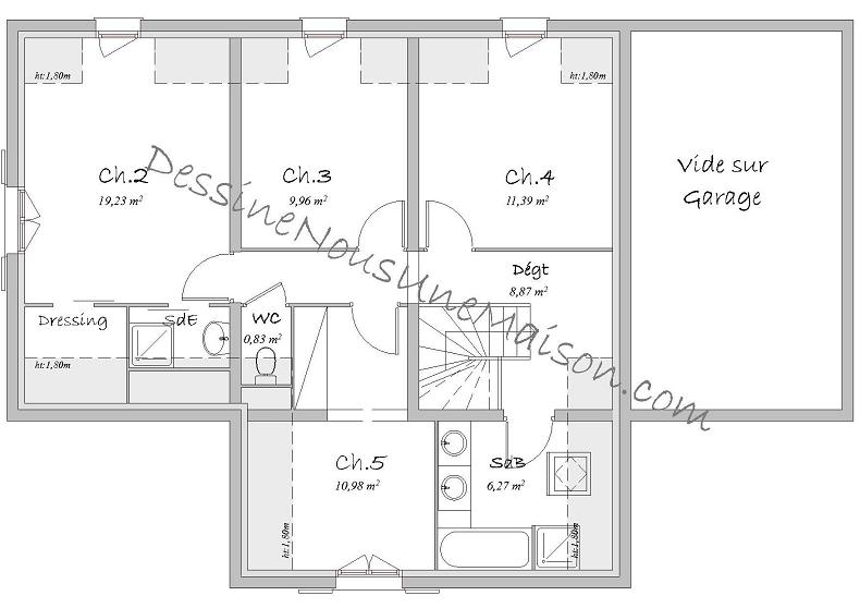 Plan De Maison Plain Pied 100m2 Co 110m2 Placecalledgrace Com 22