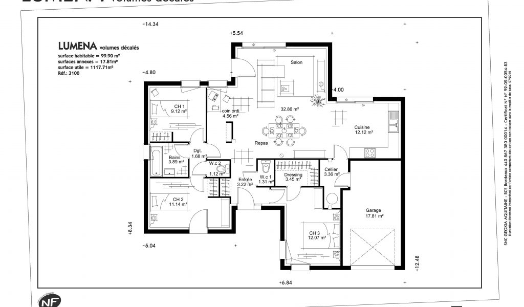 Plan De Maison Plain Pied 110m2 Collection Photo D Coration Et
