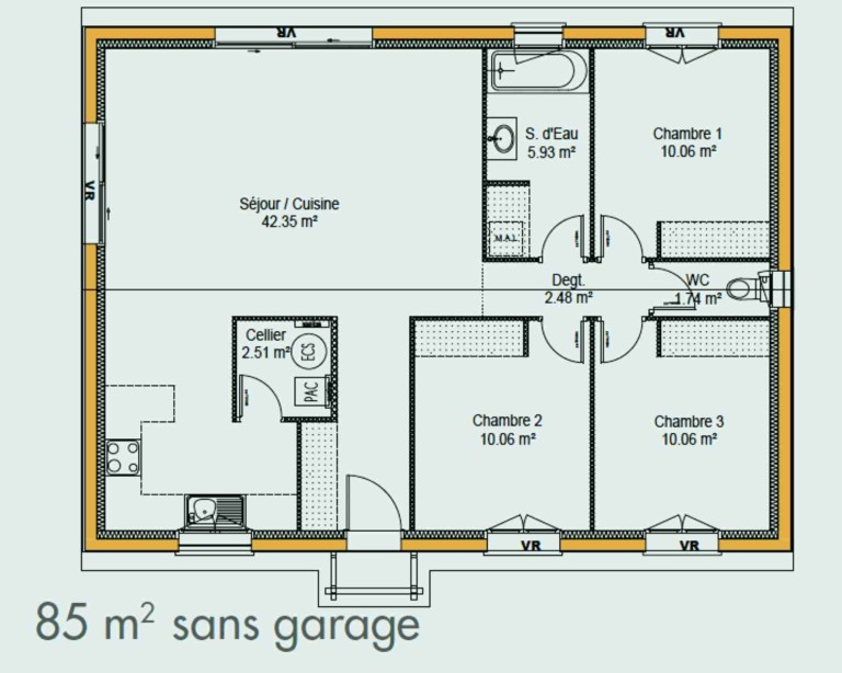 Plan De Maison Simple 3 Chambres 10 Index Of Images Plans