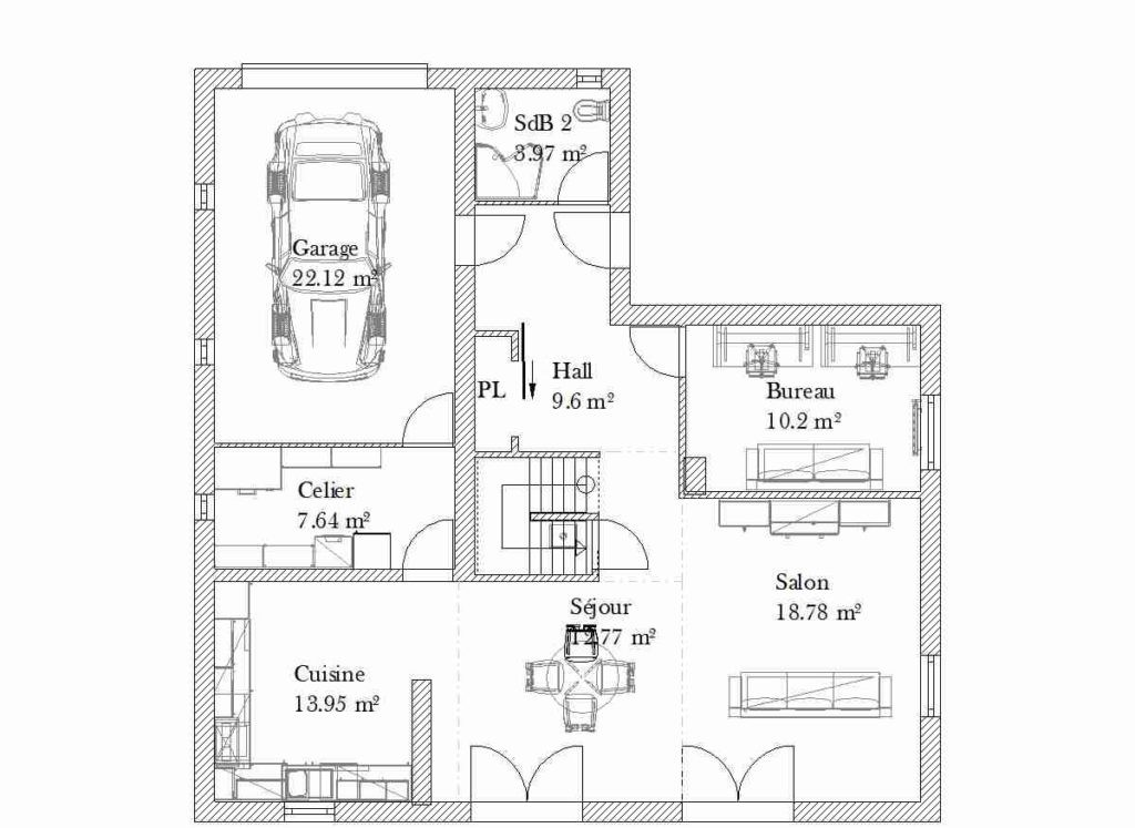 Plan De Maison Sketchup 90m2 Choosewell Co A1group