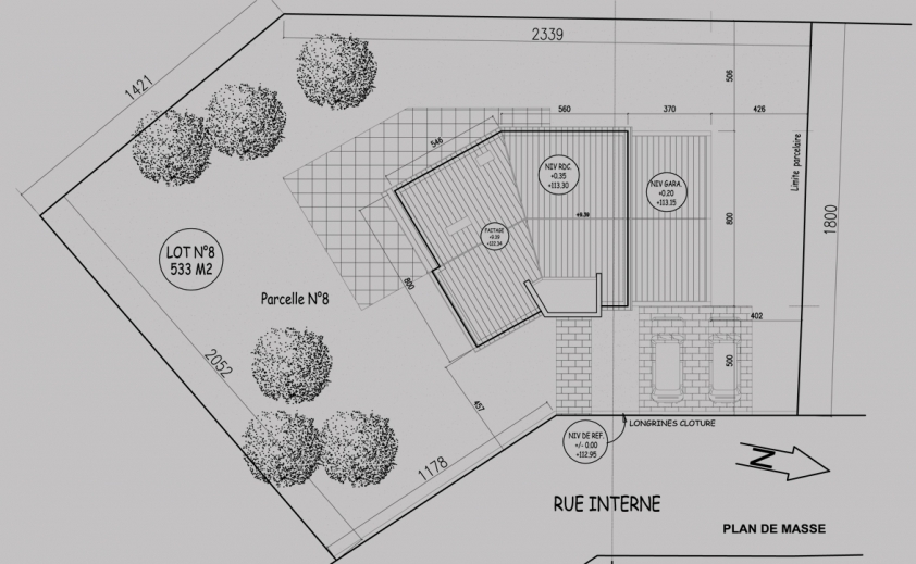 Plan De Masse D Une Maison 1 Facade Lzzy Co Newsindo 3 Dune