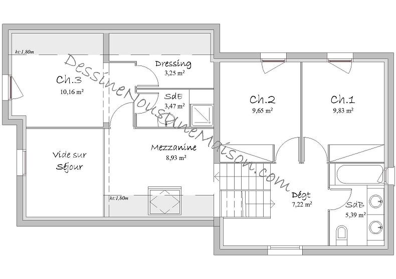 Plan Maison 100m2 2 Etages Id Es D Coration Int