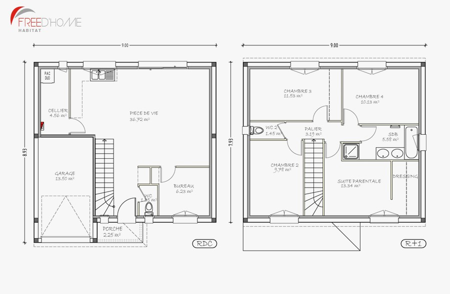 Plan Maison 100m2 A Etage 2 Etages 8 1 Lzzy Co Ipsita