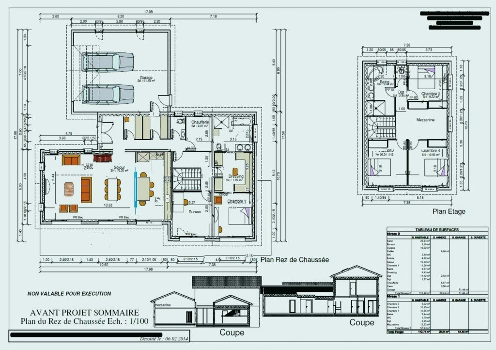 Plan Maison 100m2 A Etage Avis 2 Etages 214374etage A1group Co