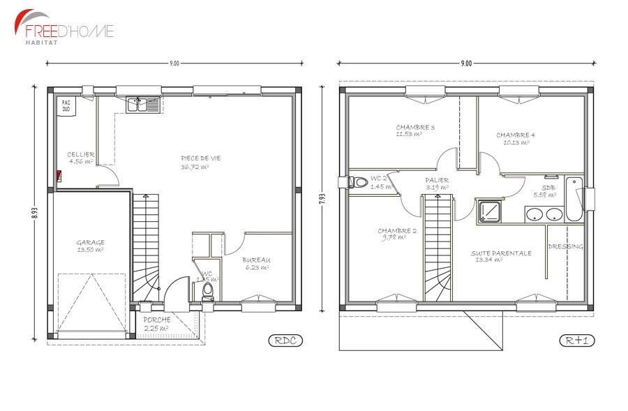 Plan Maison 100m2 A Etage Suisse Large Choosewell Co De