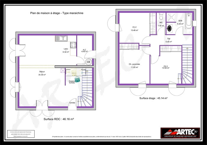 Plan Maison 100m2 Etage 110 M2 Choosewell Co Pertaining To