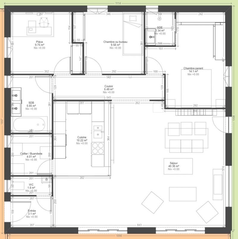 Plan Maison 110m2 De Newsindo Co Moderne A1groupco 16 Decorating Ideas