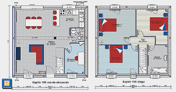 Plan Maison 110m2 Etage Newsindo Co De Avis Tage 56 Messages
