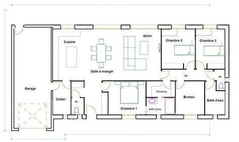 Plan Maison 120m2 Plain Pied Architecture Pinterest House