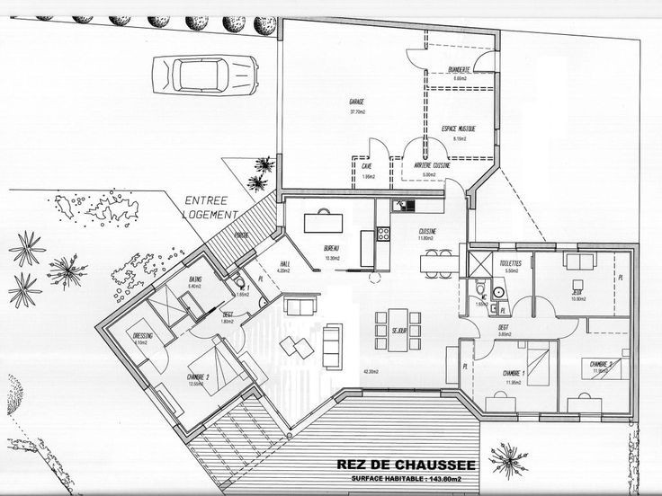 Plan Maison 120m2 Plain Pied Chambre Pinterest Nstruction A1group