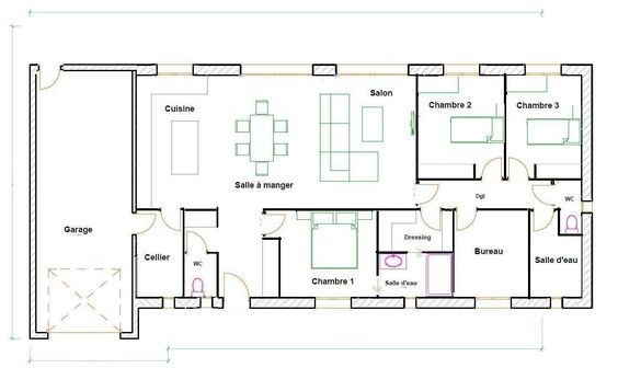 Plan Maison 120m2 Plain Pied Ipsita Co