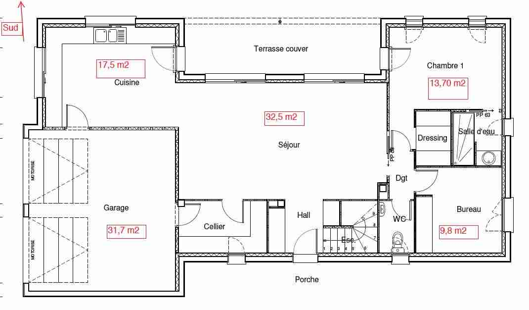 Plan Maison 130m2 Decorating Ideas