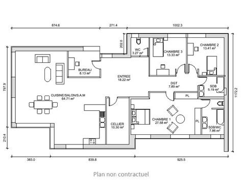 Plan Maison 170 M2 Plain Pied Mambobc Com Davidreed Co