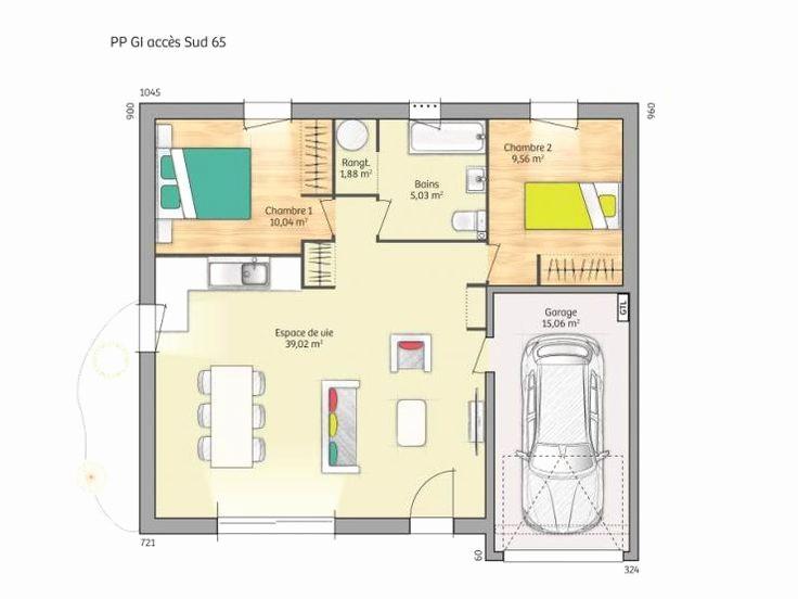 Plan Maison 3 Chambres 1 Salon Latest Tage De 110m2 100m2 Simple