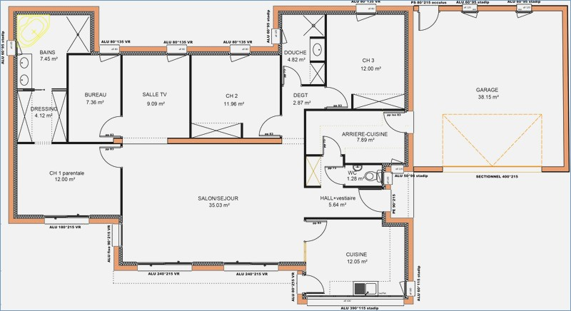 Plan Maison 3 Chambres Lovely 6 44 Best