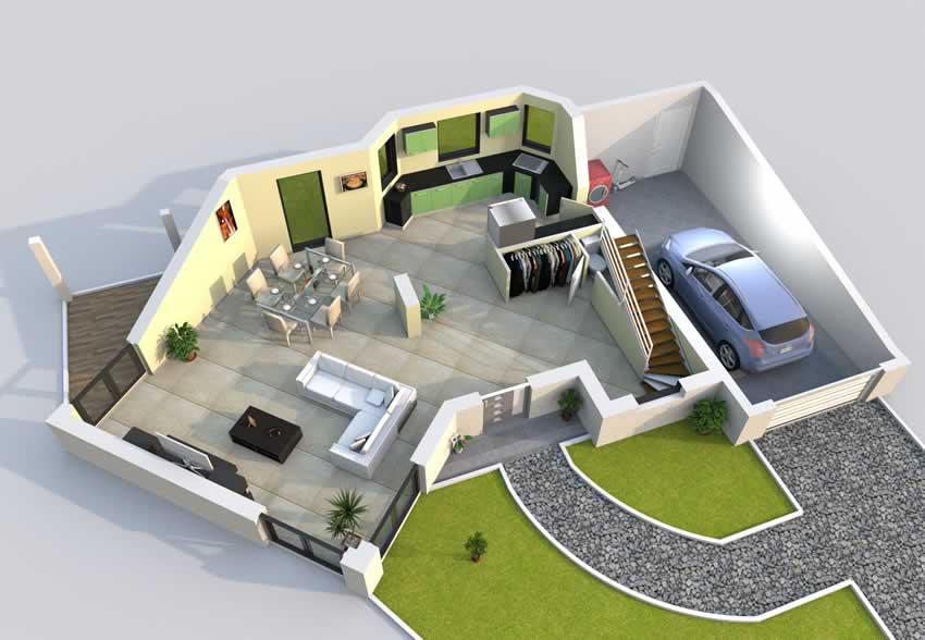 Plan Maison 3D Baticonfort