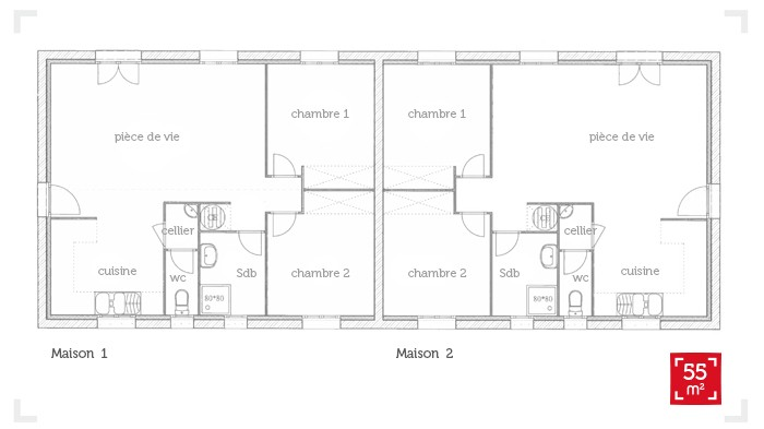 Plan Maison 80 M2 Plain Pied 80m2 1 Locatif PMR 17 Messages