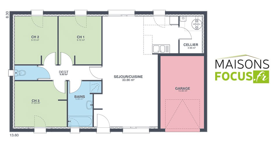 Plan Maison 80 M2 Plain Pied A1group Co