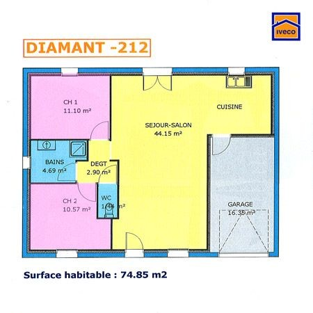 Plan Maison 80 M2 Plain Pied A1group