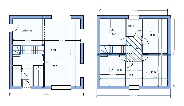 Plan Maison A Etage 100m2 Cool 2 Etages Id