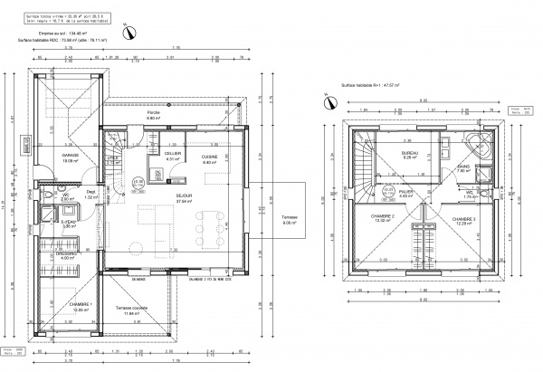 Plan Maison A Etage Gallery Of