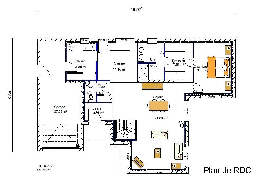 Plan Maison Avec Mezzanine De Contemporaine 1 Plans Pinterest