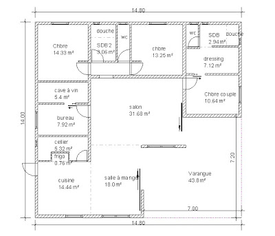 Plan Maison Carree 4 Chambres Politify Us