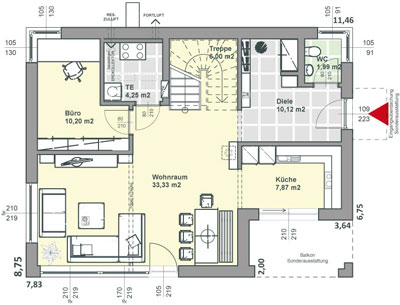 Plan Maison Contemporaine Cool De Moderne A Etage