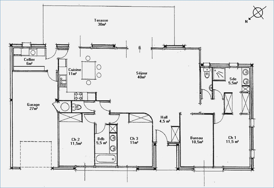 Plan Maison Contemporaine Gratuit Avie